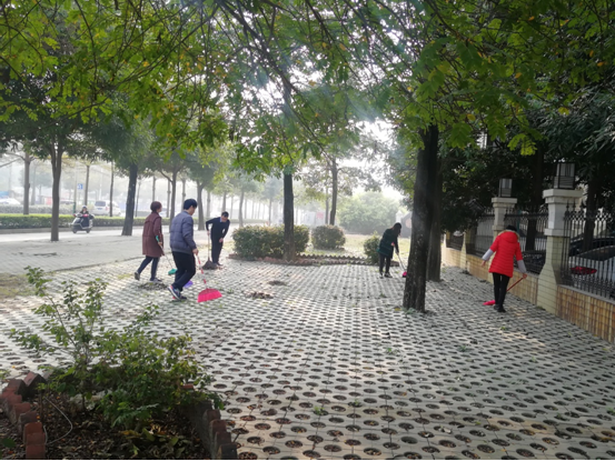 我局干部职工积极参加城区迎新春爱国卫生大扫除活动